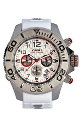 Men's Kyboe 'Empire' Chronograph Silicone Strap Watch 48Mm