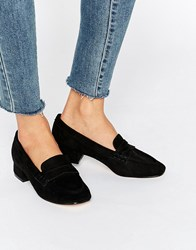 Truffle Collection Low Heel Soft Loafer Black