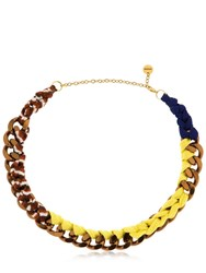 Missoni Iconic Chain Braided Necklace Multicolor