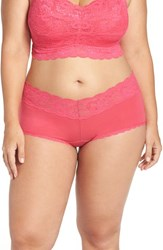 Cosabella Plus Size Women's 'Never Say Never' Low Rise Boyshorts Hot Pink