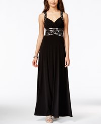 Speechless Juniors' Embellished Empire Waist Gown Black
