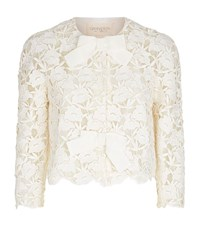 Giambattista Valli Floral Lace Jacket Female White