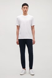 Cos T Shirt With Rib Neck White