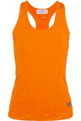 Adidas By Stella Mccartney The Performance Racer Back Stretch Jersey Tank Orange