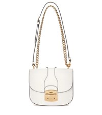 Miu Miu Leather Shoulder Bag White