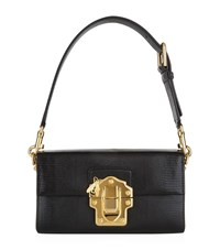 Dolce And Gabbana Lucia Embossed Leather Bag Female Black