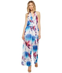 Nicole Miller La Plage By Eric Halter Beach Playsuit White Multi Women's Jumpsuit And Rompers One Piece