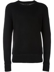 Ann Demeulemeester Grise Double Face Pullover Black