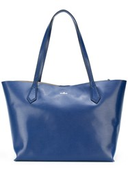 Hogan Slouched Tote Bag Women Leather One Size Blue