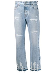 Diesel Distressed Denim Jeans Blue