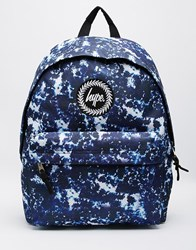 Hype Acid Dye Backpack Blue