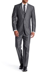 Calvin Klein Two Button Notch Lapel Suit Black