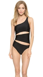 Adidas By Stella Mccartney One Shoulder Swimsuit Black