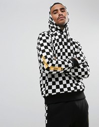 Criminal Damage Hoodie In Checkerboard White
