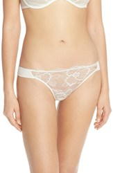 Women's Wacoal 'Vision' Floral Lace Thong Pearl