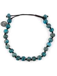 Joseph Brooks Stone Bead Bracelet Blue