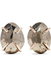 Melissa Joy Manning 14 Karat Gold Pyrite Earrings
