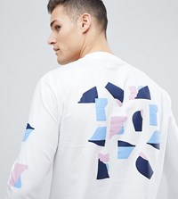 Noak T Shirt With Abastract Print In Long Sleeve White