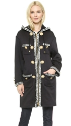 Moschino Embroidered Coat Black