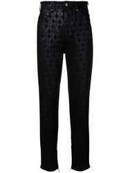 Versace Jeans Printed Slim Trousers Black