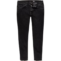 River Island Mens Black Sid Cropped Skinny Jeans