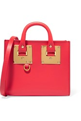 Sophie Hulme Albion Box Mini Leather Shoulder Bag Red