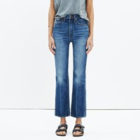 Madewell Rivet And Thread High Rise Crop Flare Jeans