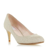 Untold Belight Round Toe Mid Heel Court Shoes Gold