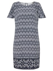 Collection Weekend By John Lewis Navajo Print Dress Blue White