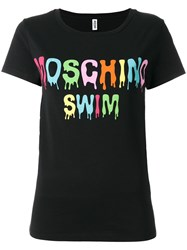 Moschino Swim Logo Print T Shirt Black