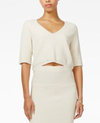 Rachel Roy V Neck Crop Top Only At Macy's Ecru