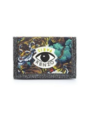 Kenzo Printed Nylon And Leather Change Wallet Multi