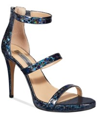Inc International Concepts Sadiee Strappy Dress Sandals Only At Macy's Women's Shoes Navy Multi