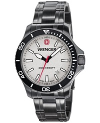 Wenger Men's Swiss Sea Force Gunmetal Pvd Coated Stainless Steel Bracelet Watch 43Mm 0641.107
