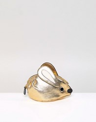 Essentiel Antwerp Mouse Coin Pouch Shiny Gold