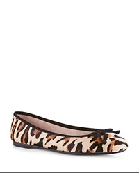 Hobbs London Prior Leopard Calf Hair Ballet Flats Mini Leopard