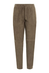 Joseph Suede Sweatpants Green