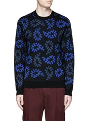 Paul Smith Dot Paisley Intarsia Wool Sweater Multi Colour