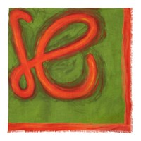 Loewe Green And Red Anagram Scarf