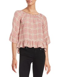 Sanctuary Paisley Peasant Top Vintage Spring