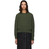 3.1 Phillip Lim Green Boucle Wool High Low Pullover