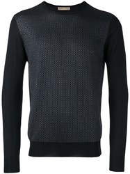 Cruciani Embroidered Knitted Sweater Black