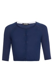 Max Mara Grembo Cropped Cardigan Dark Blue