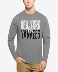 47 Brand '47 Men's New York Yankees Power Alley Long Sleeve T Shirt Gray