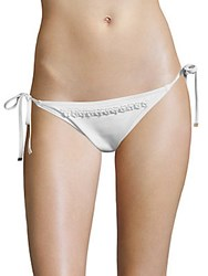 Michael Kors Beaded Bikini Bottom White