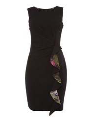 Simon Jeffrey Frill Dress Black