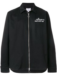 Soulland Zipped Logo Lightweight Jacket Black