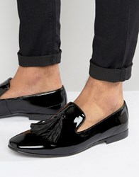 Kg By Kurt Geiger Tassel Loafers In Patent Leather Black