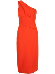 Narciso Rodriguez One Shoulder Dress Red