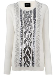 Markus Lupfer Sequin Embellished Jumper White